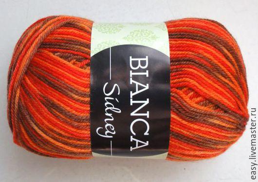 Вязание ручной работы. Ярмарка Мастеров - ручная работа. Купить Пряжа BIANCA SIDNEY австралийская шерсть. Handmade. Комбинированный, шерсть