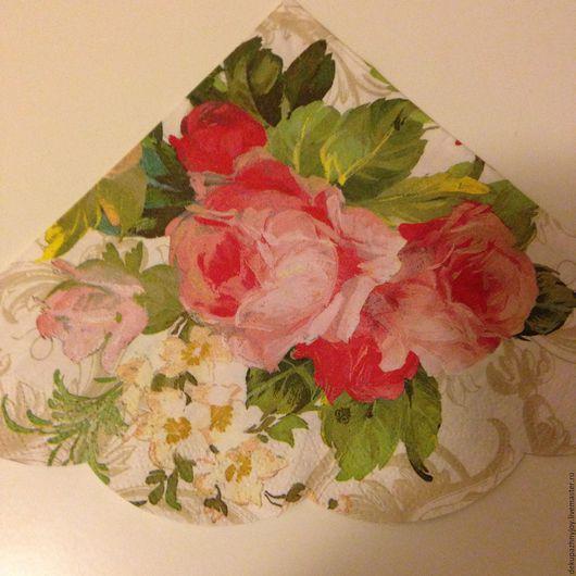 Салфетка для декупажа - шикарные розы, розы маслом Декупажная радость