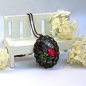 """Украшения ручной работы. Ярмарка Мастеров - ручная работа Кулон """"Розовый сад"""" версия 2. Handmade."""