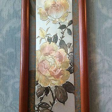 Vintage handmade. Livemaster - original item Author`s painting engraving Roses Yosimitu Japan. Handmade.