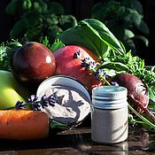 Косметика ручной работы handmade. Livemaster - original item Vegetable juice and red onion, blue clay cleansing mask. Handmade.