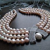 Украшения handmade. Livemaster - original item Necklace of large pale lilac pearls.. Handmade.