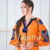 Блузки ручной работы. Ярмарка Мастеров - ручная работа Летняя блуза вышитая в этно стиле. Handmade.