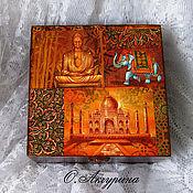 Для дома и интерьера ручной работы. Ярмарка Мастеров - ручная работа Коробка для чайных пакетиков «Тот самый чай». Handmade.