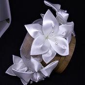 Диадемы ручной работы. Ярмарка Мастеров - ручная работа Сеточка для волос Лилии. Handmade.