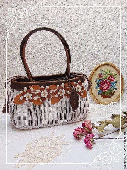 Винтажные сумки и кошельки. Ярмарка Мастеров - ручная работа. Купить Винтажная сумка- корзинка , Италия. Handmade. Комбинированный, сумочка с цветами