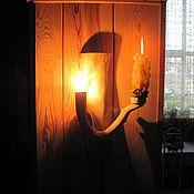 Для дома и интерьера ручной работы. Ярмарка Мастеров - ручная работа Бра однорожковое с подсвечником и выключателем. Handmade.