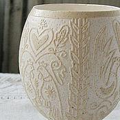 Для дома и интерьера ручной работы. Ярмарка Мастеров - ручная работа Ваза (скорлупа страусиного яйца). Handmade.