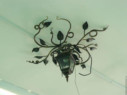 Экстерьер и дача ручной работы. Ярмарка Мастеров - ручная работа. Купить Кованый светильник Вьюн. Handmade. Фонарь уличный, освещение