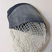 """Аксессуары ручной работы. Ярмарка Мастеров - ручная работа Пилотка """"джинс"""". Handmade."""
