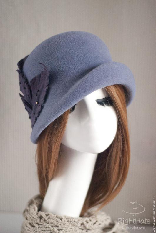 """Шляпы ручной работы. Ярмарка Мастеров - ручная работа. Купить """"Холодное утро"""". Handmade. Серый, шляпа, купить шляпу"""