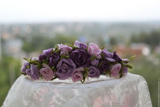 Заколки ручной работы. Ярмарка Мастеров - ручная работа. Купить Заколка из роз. Handmade. Заколка для волос, заколка для девочки
