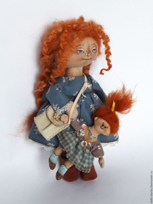 Коллекционные куклы ручной работы. Ярмарка Мастеров - ручная работа. Купить Кукла текстильная тыквоголовка. Handmade. Рыжий, авторская игрушка