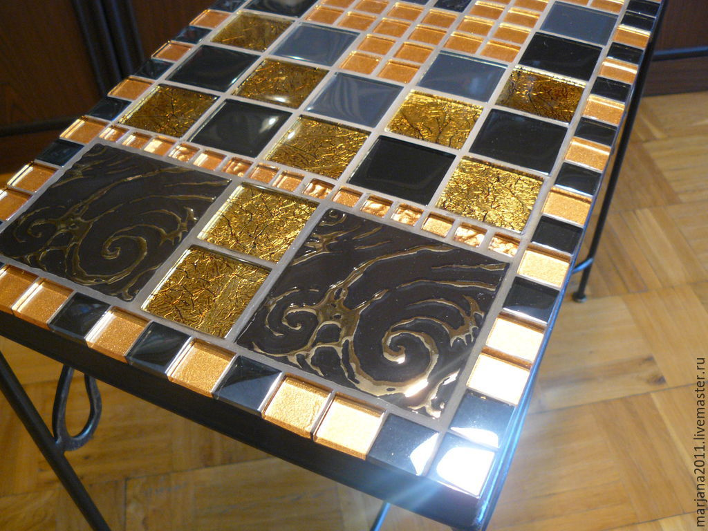 ... Furniture Handmade. Wrought Iron Console Table Mosaic U0027tales Of Ancient  Egyptu0027.