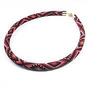 Украшения handmade. Livemaster - original item Beaded crimson sunset harness. Handmade.