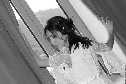 Одежда и аксессуары ручной работы. Ярмарка Мастеров - ручная работа. Купить Свадебное платье слоновой кости Italy Gelsamino. Handmade.