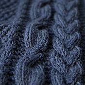 Аксессуары handmade. Livemaster - original item Scarf blue soft wool knitted men`s / women`s winter. Handmade.