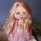 Куклы и пупсы ручной работы. Ярмарка Мастеров - ручная работа Текстильная кукла ручной работы сестра двойняшка в розовом. Handmade.