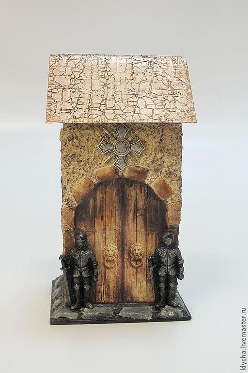 """Кухня ручной работы. Ярмарка Мастеров - ручная работа. Купить чайный домик """"Замок"""". Handmade. Бежевый, чайная коробка, для дома"""