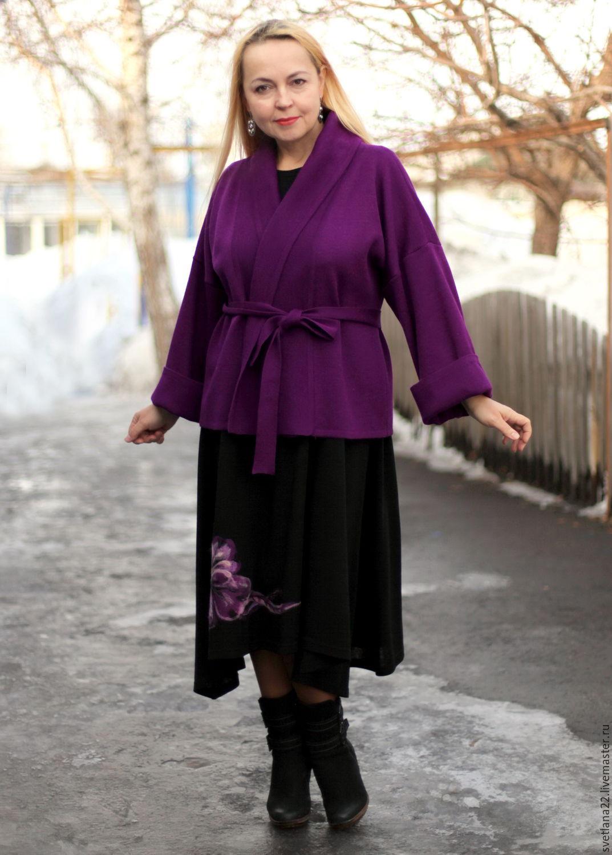 "Knitted cardigan ""Luxury lilac"", Cardigans, Pavlodar,  Фото №1"