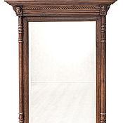 Для дома и интерьера ручной работы. Ярмарка Мастеров - ручная работа Большое настенное зеркало с резной раме с карнизом и колоннами11ПК0035. Handmade.