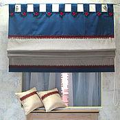Для дома и интерьера handmade. Livemaster - original item Roman blind in marine style. Handmade.