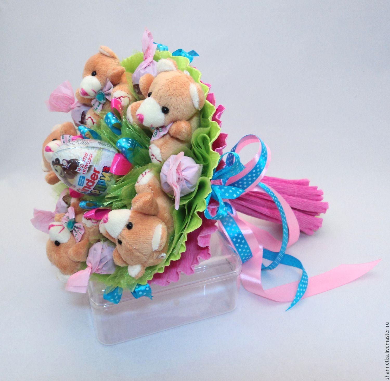 Детский букет из игрушек своими руками мастер класс