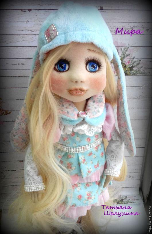 Коллекционные куклы ручной работы. Ярмарка Мастеров - ручная работа. Купить кукла Мира. Handmade. Кукла, кукла интерьерная, трикотаж