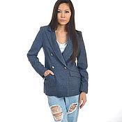 Одежда handmade. Livemaster - original item Jacket double-breasted blue. Handmade.