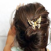 Украшения ручной работы. Ярмарка Мастеров - ручная работа Заколка-шпилька для волос. Бабочка.. Handmade.