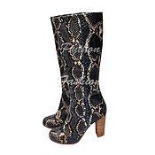 Обувь ручной работы handmade. Livemaster - original item Boots Python CLEMENTA. Handmade.