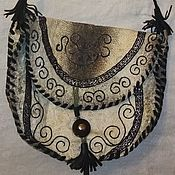 Сумка через плечо ручной работы. Ярмарка Мастеров - ручная работа Сумка через плечо: из рыбьей кожи. Handmade.