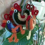 Куклы и игрушки ручной работы. Ярмарка Мастеров - ручная работа Петушок вязаный, игрушка, брелок, амигуруми. Handmade.