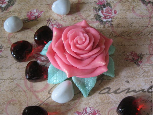Мыло ручной работы. Ярмарка Мастеров - ручная работа. Купить Мыло. Роза. Handmade. Розовый, цветы для любимой