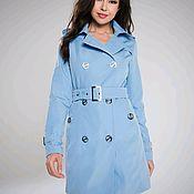 Одежда handmade. Livemaster - original item Trench coat blue. Handmade.