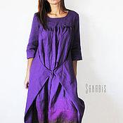 Одежда ручной работы. Ярмарка Мастеров - ручная работа Льняное платье-трансформер. Handmade.