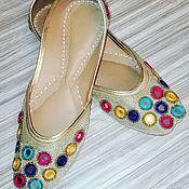 Обувь ручной работы. Ярмарка Мастеров - ручная работа Тапочки из кожи. Handmade.