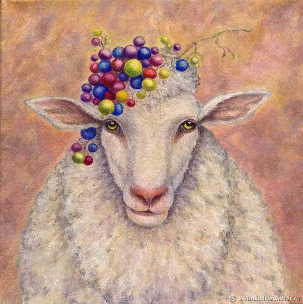 Картина маслом Бедная овечка, Картины, Оренбург,  Фото №1