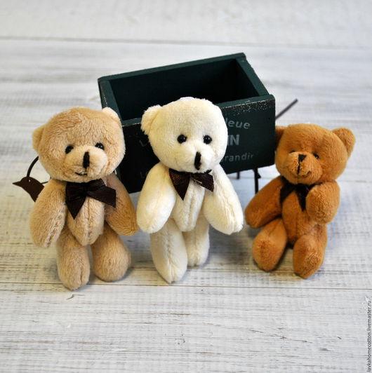 Мишка игрушка для кукол 9см, 3 цвета