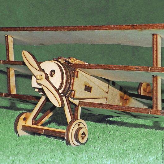 Техника ручной работы. Ярмарка Мастеров - ручная работа. Купить самолет Фоккер ДР-1 триплан. Handmade. Бежевый