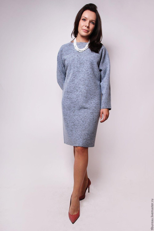 b0bed717c8b Платья ручной работы. Ярмарка Мастеров - ручная работа. Купить Голубое  платье из лодена.