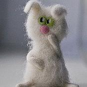 Куклы и игрушки ручной работы. Ярмарка Мастеров - ручная работа пушистый зайка. Handmade.