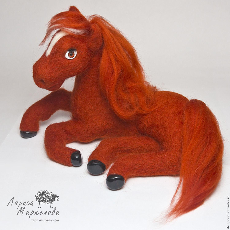 Валяная игрушка. Лошадка Агата, Войлочная игрушка, Коломна,  Фото №1