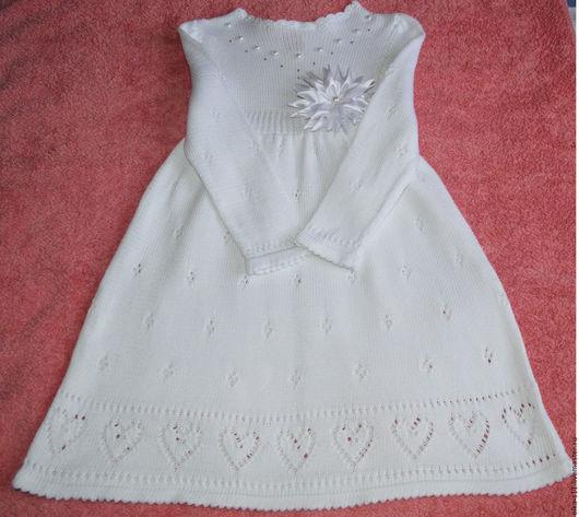"""Одежда для девочек, ручной работы. Ярмарка Мастеров - ручная работа. Купить Платье вязаное """"Белая Лилия"""". Handmade. Белый"""