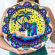 'Exotic baby elephant ' big plate on the wall. Decorative plates. Art by Tanya Shest. My Livemaster. Фото №4
