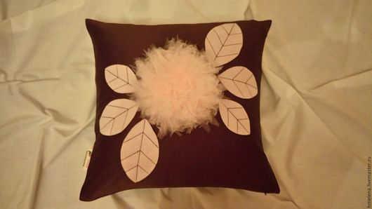 Текстиль, ковры ручной работы. Ярмарка Мастеров - ручная работа. Купить чехлы-наволочки на подушки шоколадная нежность. Handmade. Коричневый