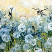 Картины и панно handmade. Livemaster - original item Dragonfly oil painting. Handmade.