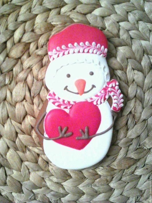 Персональные подарки ручной работы. Ярмарка Мастеров - ручная работа. Купить Снеговик с сердечком. Handmade. Комбинированный, подарок женщине