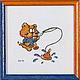 """Животные ручной работы. Ярмарка Мастеров - ручная работа. Купить """"Рыбачок"""". Handmade. Разноцветный, котик, рыбалка, рыжий, синий"""