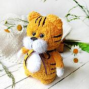 handmade. Livemaster - original item Tiger. knitted toy. gift 2022. Handmade.